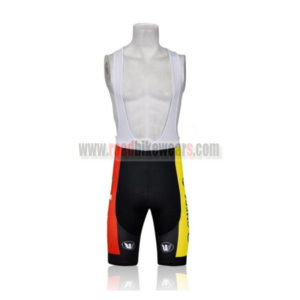 2011 Team LOTTO Cycle Bib Shorts Red Yellow