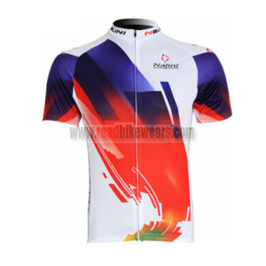 2011 Team Nalini Cycling Maillot Jersey Shirt White Blue Red