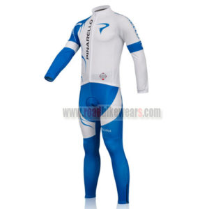 2011 Team PINARELLO Biking Long Kit White Blue