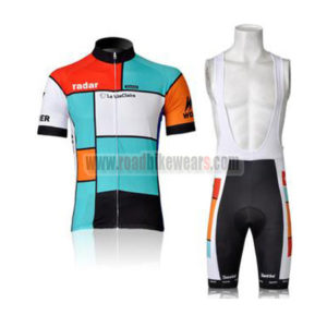 2011 Team Radar La VieClaire Cycling Bib Kit Blue Red