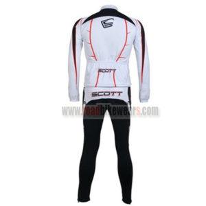 2011 Team SCOTT Bicycle Long Kit White
