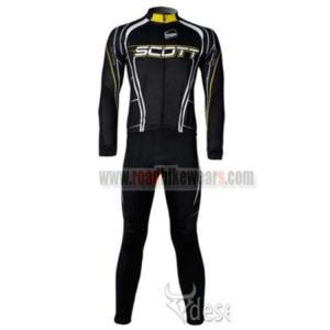 2011 Team SCOTT Cycling Long Kit Black