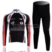 2011 Team SHIMANO Cycling Long Kit Black Red