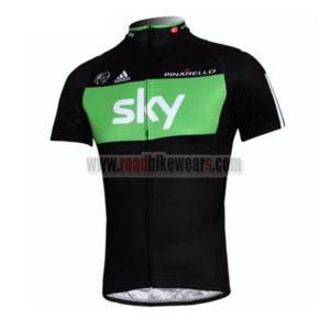 2011 Team SKY Pro Biking Jersey Maillot Shirt Black Green