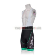 2011 Team TREK Cycle Bib Shorts Black White Green