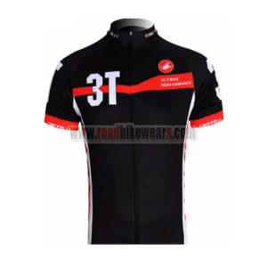 2012 Team 3T Castelli Cycling Maillot Jersey Shirt Black Red