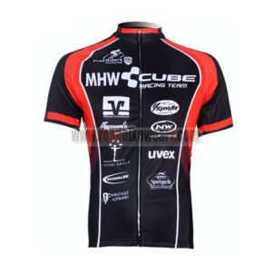 2012 Team CUBE Bicycle Maillot Jersey Shirt Black Red