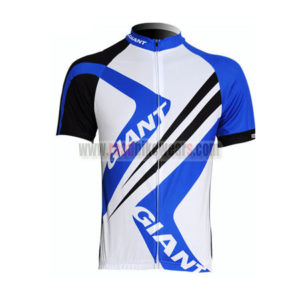2012 Team GIANT Cycling Maillot Jersey Shirt Blue White