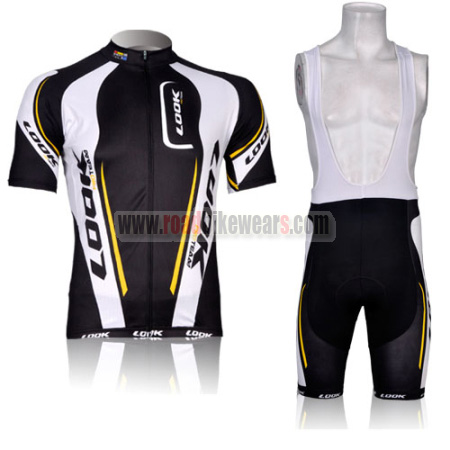 e7fce28ba 2012 Team LOOK Racing Outfit Bicycle Jersey and Padded Bib Shorts ...