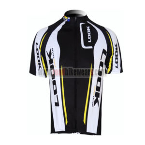 2012 Team LOOK Cycling Maillot Jersey Shirt Black White