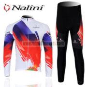 2012 Team Nalini Cycling Long Kit Blue Red White