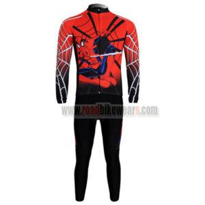 2012 Team Spiderman Cycle Long Sleeve Kit Red Black