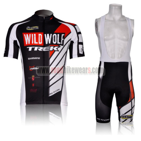 2b3e255c5 2012 Team WILDWOLF TREK Racing Outfit Bicycle Jersey and Padded Bib ...