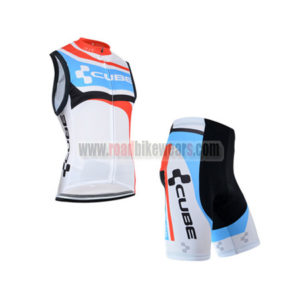 2014 Team CUBE Cycling Sleeveless Vest Kit