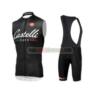 7952be803 2014 Team Castelli Cafe Cycle Wear Bike Riding Sleeveless Jersey and Padded  Bib Shorts Roupas Bicicleta