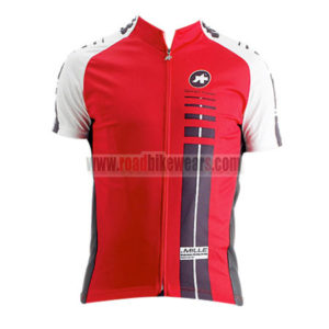 2015 Team ASSOS Cycling Jersey For Men Red