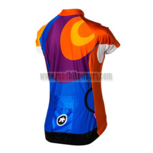 2015 Team ASSOS Women's Bicycle Jersey Blue Purple Orange
