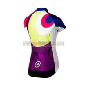2015 Team ASSOS Women's Bicycle Jersey Red Purple Green