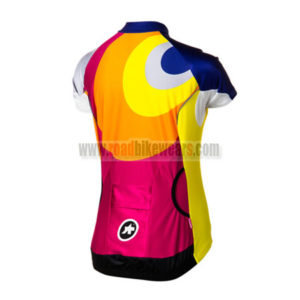 2015 Team ASSOS Women's Biking Jersey Blue Red Yellow