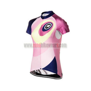 2015 Team ASSOS Women's Cycling Jersey Blue Pink