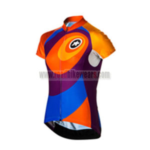 2015 Team ASSOS Women's Cycling Jersey Blue Purple Orange