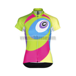 2015 Team ASSOS Women's Cycling Jersey Green Pink