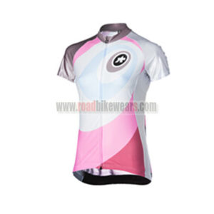 2015 Team ASSOS Women's Cycling Jersey White Pink