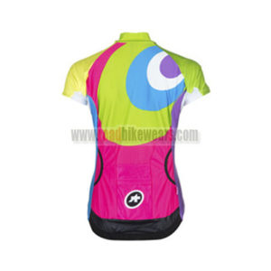 2015 Team ASSOS Women's Riding Jersey Green Pink