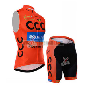 2015 Team CCC Cycling Sleeveless Kit