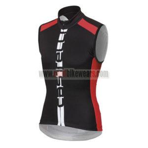 2015 Team Castelli Bicycle Sleeveless Vest Black Red 60f970fc1