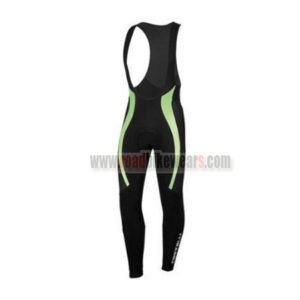 2015 Team Castelli Cycling Long Bib Pants Black Green