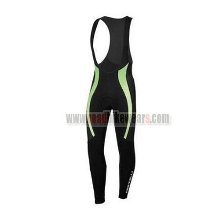 2015 Team Castelli Cycling Long Bib Pants Black Green