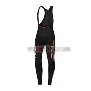 2015 Team Castelli Riding Long Bib Pants Black Red