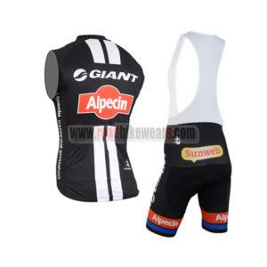 2015 Team GIANT Alpecin Biking Sleeveless Vest Kit