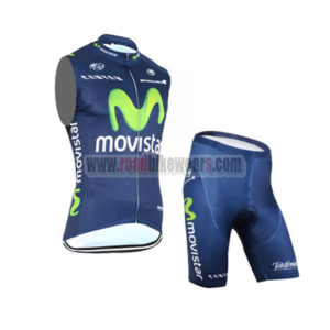 2015 Team Movistar Cycling Sleeveless Vest Kit