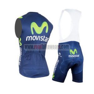 2015 Team Movistar Riding Sleeveless Vest Bib Kit