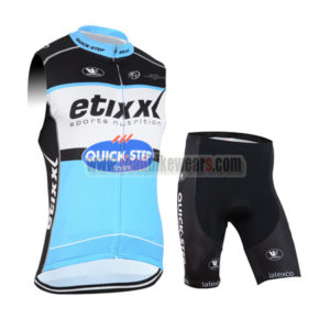 2015 Team QUICK STEP Cycling Sleeveless Kit