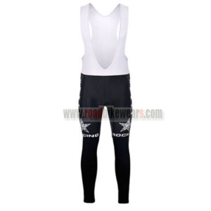 2015 Team ROCK RACING Bicycle Long Bib Pants Tights Black