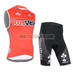 2015 Team RusVelo Riding Clothing Training Sleeveless Jersey and Padded  Shorts Roupas Bicicleta f57b9b750
