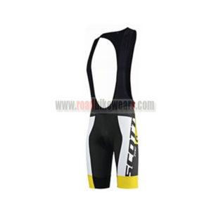 2015 Team SCOTT Racing Wear Biking Padded Bib Shorts Bottoms Roupas  Bicicleta White Black Yellow e602d960b