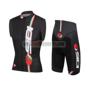 2015 Team SIDI Cycle Sleeveless Vest Kit Black