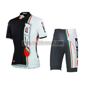 202204771 2015 Team SIDI Pro Riding Uniform Cycle Jersey and Padded Shorts Roupas  Bicicleta White Black