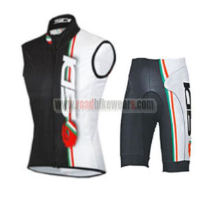 2015 Team SIDI Cycling Sleeveless Vest Kit White Black