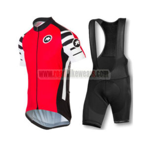 2016 Team ASSOS Riding Apparel Bicycle Jersey and Padded Bib Shorts Roupas  Bicicleta Red ad12fe6ef