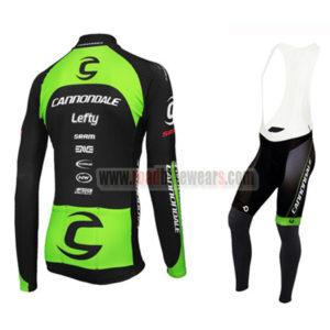 2016 Team Cannondale Riding Long Bib Suit Black Green