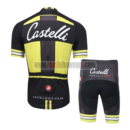 86d3db5ff 2016 Team Castelli CAFE Biking Outfit Cycle Jersey and Padded Shorts ...
