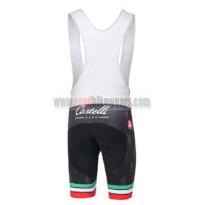 2016 Team Castelli CAFE Riding Bib Shorts Black Green Red