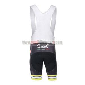 2016 Team Castelli CAFE Riding Bib Shorts Black Yellow