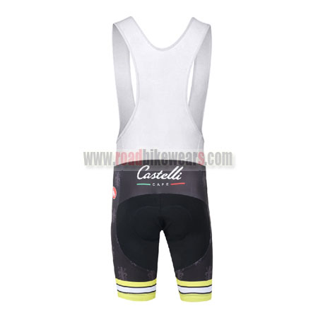 f64988179 2016 Team Castelli CAFE Cycling Bib Shorts Black Yellow  2016 Team Castelli  CAFE Riding Bib Shorts Black Yellow