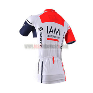 2016 Team IAM Bicycle Jersey White Blue Red
